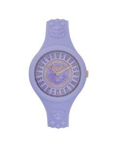 Versace Women's Versus Fire Island Silicone Strap Watch- Violet