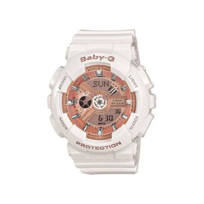 Casio Women's Baby-G White Analog Digital Ladies Watch