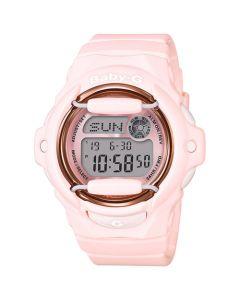 Casio Baby-G Women's Analog-Digital Pink Resin Strap Watch