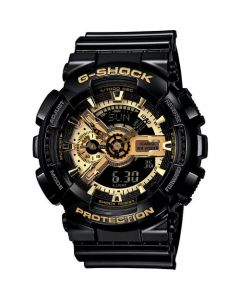 Casio Men's G-Shock Black and Gold Dial Anaog-Digital Limited Edition Resin Watch - Black