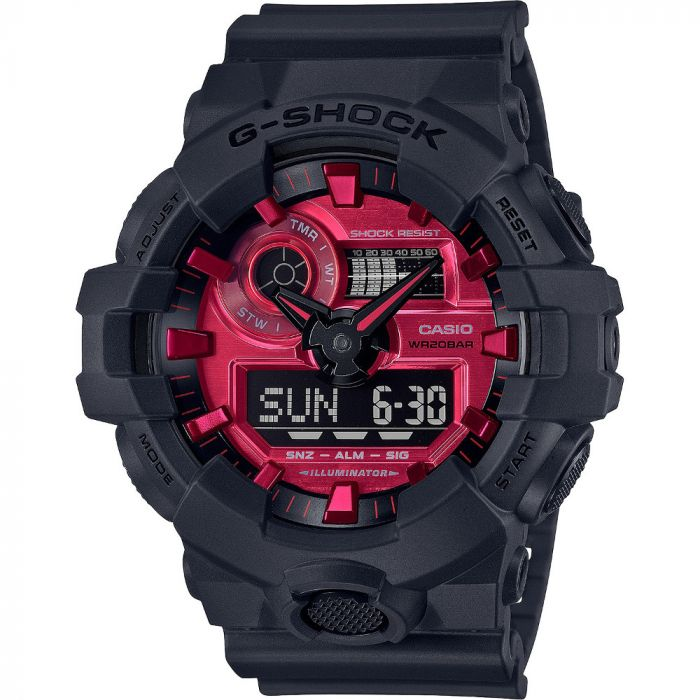 G-Shock Men's Analog-Digital Resin Strap Watch 53.4mm  - Black