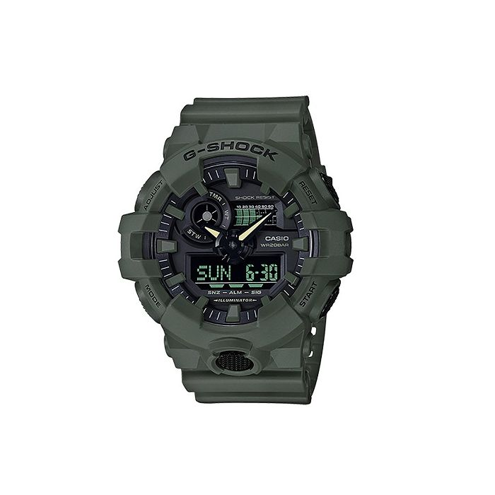 Casio G-Shock Men's Clasic Analog Digital Black Dial Resin Strap Watch - Olive-Green