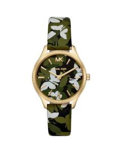 Michael Kors Women's Lexington Strap Watch - Green Camo Butterfly
