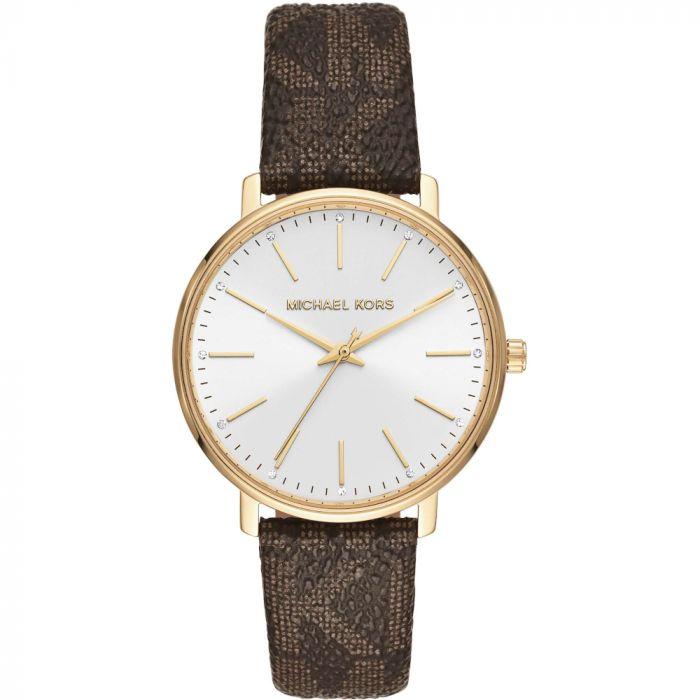 Michael Kors Women's Pyper Brown Logo Watch