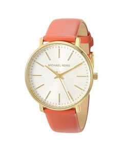 Michael Kors Women's Pyper Three-Hand Leather Strap - Pink Coral
