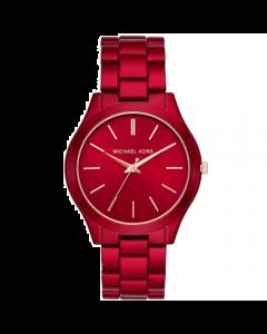 Michael Kors Women's Slim Runway Bracelet Watch Stainless Steel - Red