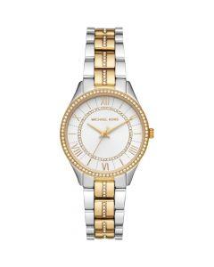 Michael Kors Women's Lauryn Quartz Watch Stainless Steel - Gold/Silver