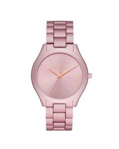 Michael Kors Women's Slim Runway Three-Hand Aluminum Watch - Pink