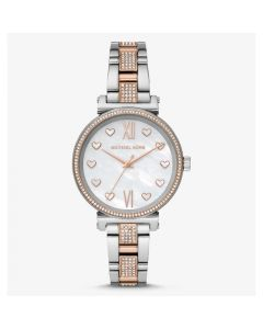 Michael Kors Sofie Three-Hand Two-Tone Stainless Steel Watch - Silver/Rose Gold