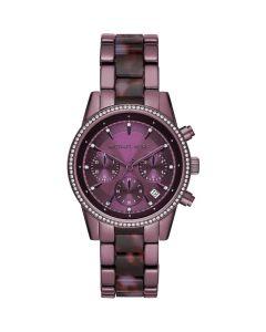 Michael Kors Women's Ritz Twotone Watch - Lavender