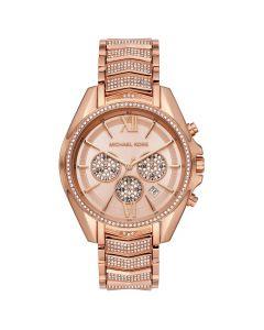 Michael Kors Women's Chronograph Whitney Stainless Steel Bracelet Watch - Rose Gold Tone
