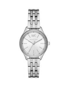 Michael Kors Women's Watch Lexington Three-Hand Stainless Steel - Silver