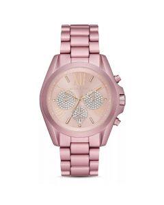 Michael Kors Women's Watch Bradshaw Chronograph - Pink Aluminum