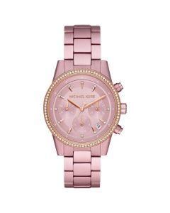 Michael Kors Women's Ritz Chronograph Watch - Pink Aluminum