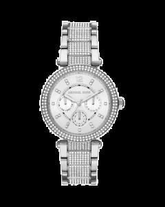 Michael Kors Women's Parker Stainless Steel Pavé Bracelet Watch - White