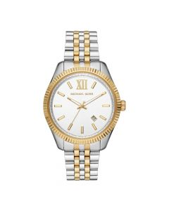 Michael Kors Men's Lexington Three Hand Two-Tone Stainless Steel Watch - Silver/Gold