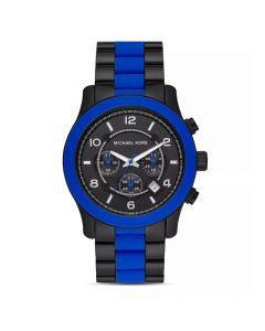 Michael Kors Men's Runway Chronograph Stainless Steel Watch - Black /Blue