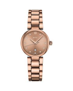 Mido Women's Swiss II Donna Diamond-Accent - Rose Gold Tone PVD Stainless Steel