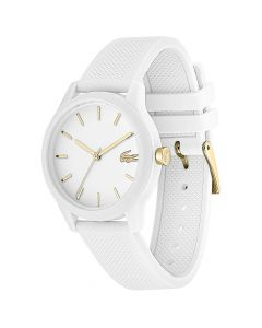 Lacoste Women's 12.12 White Rubber Strap Watch 36mm