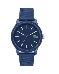 Lacoste Men's 12.12 Blue Silicone Strap Watch - Blue