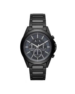 Armani Men's Watch Exchange Analog Blue Dial - Black