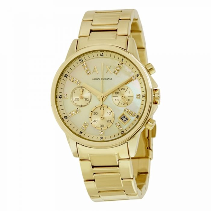 Armani Exchange Women's Watch Gold-Tone Stainless Steel - Gold Dial