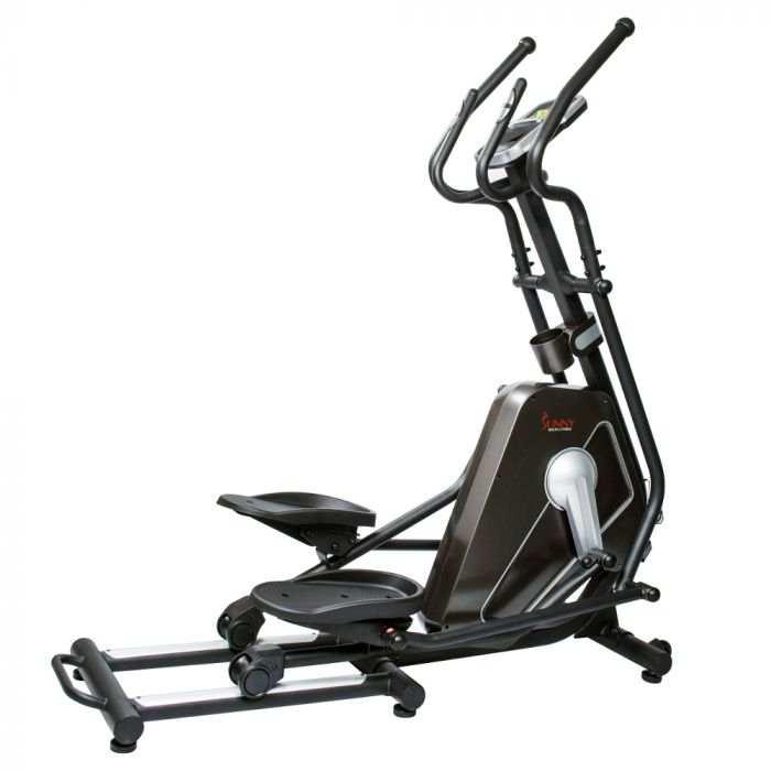 Sunny Magnetic Elliptical Trainer Machine w/ Device Holder /LCD Monitor