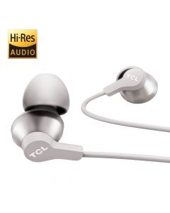 TCL in-Ear Earbuds Hi-Res Wired Noise Isolating Headphones  - Cement Gray