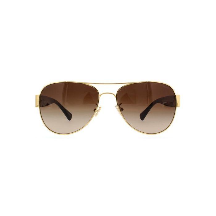 Coach HC7059 Women's Aviator Sunglasses - Gold Dark Tortoise / Dark Brown Gradient