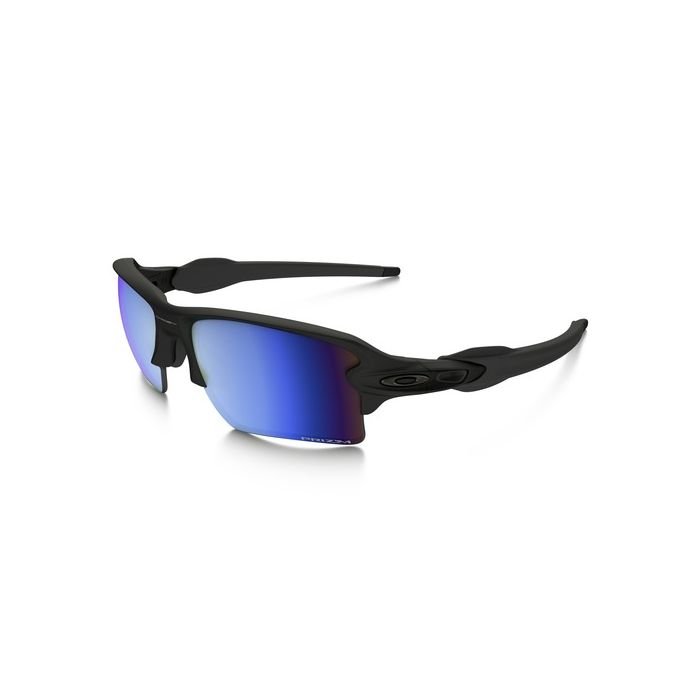 Oakley Men's Flak 2.0 XL Polarized Sunglasses - Matte Black/Prizm Deep Water Polarized