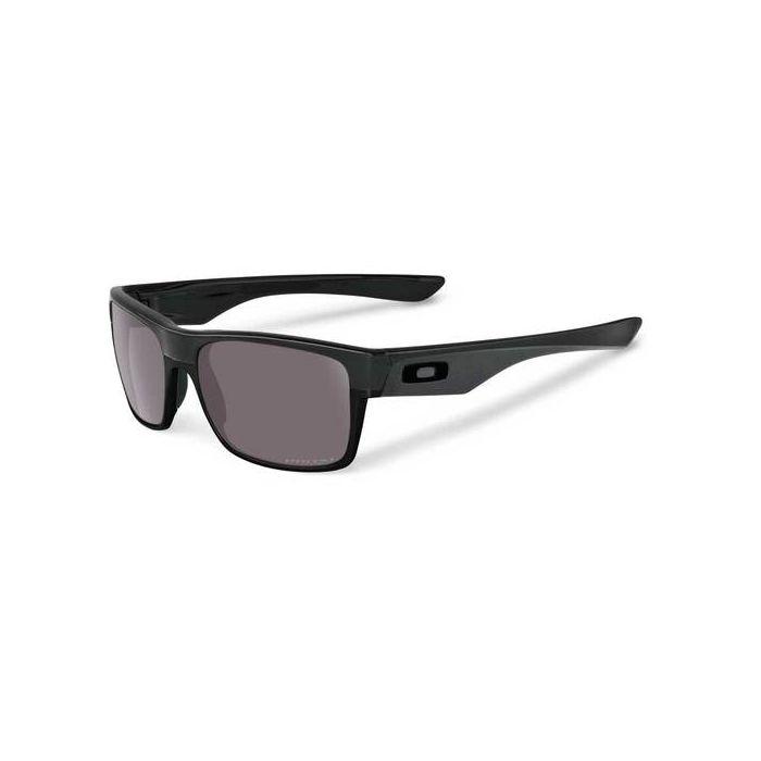 Oakley Men's Twoface Polarized Rectangular Sunglasses - Matte Black/Prizm Grey Polarized