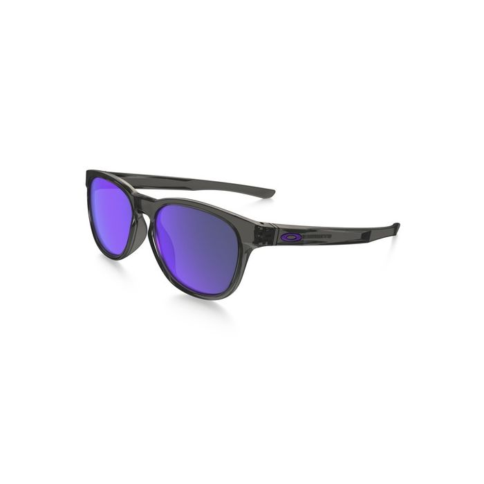 Oakley Stringer Sunglasses Grey Smoke/Violet Iridium