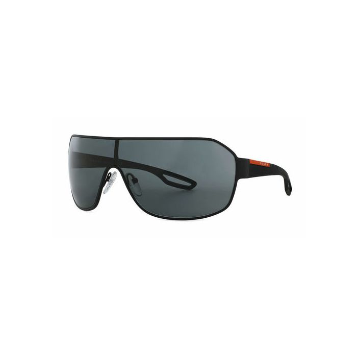 Prada Linea Rossa LJ Silver Sunglasses - Black Rubber/Grey