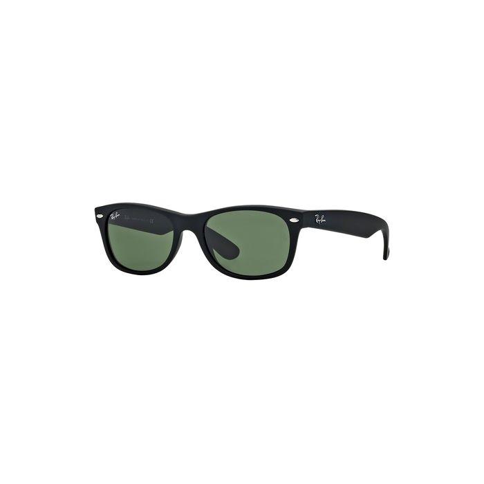 Ray-Ban 2132 New Wayfarer Sunglasses - Black Rubber / Crystal Green