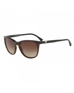 Emporio Armani Women's Sunglasses Square - Dark Havana/Brown Gradient
