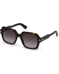 Tom Ford Women's Sunglasses- Shiny Classic Dark Havana/ Gradient Wine