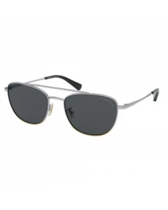Coach Unisex Sunglasses Pilot - Polar Grey Solid Polarized