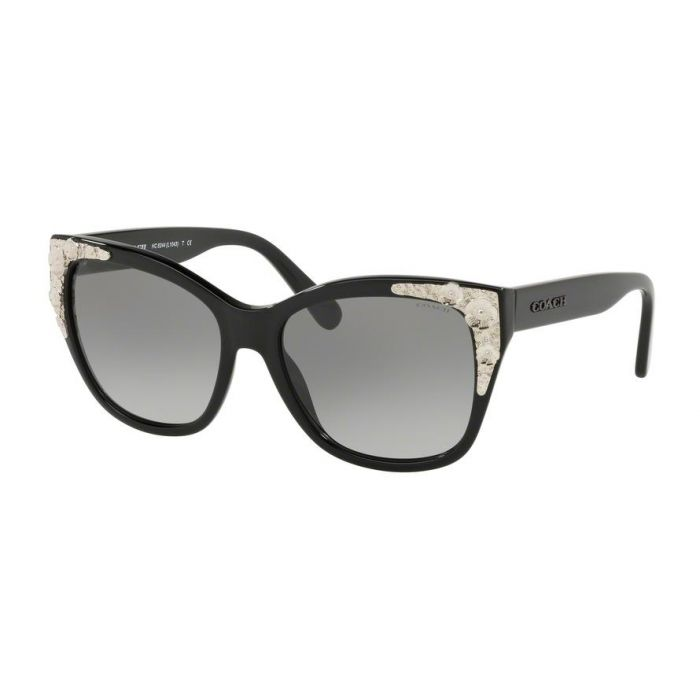 Coach Women's Sunglasses Square - Black Solid Grey