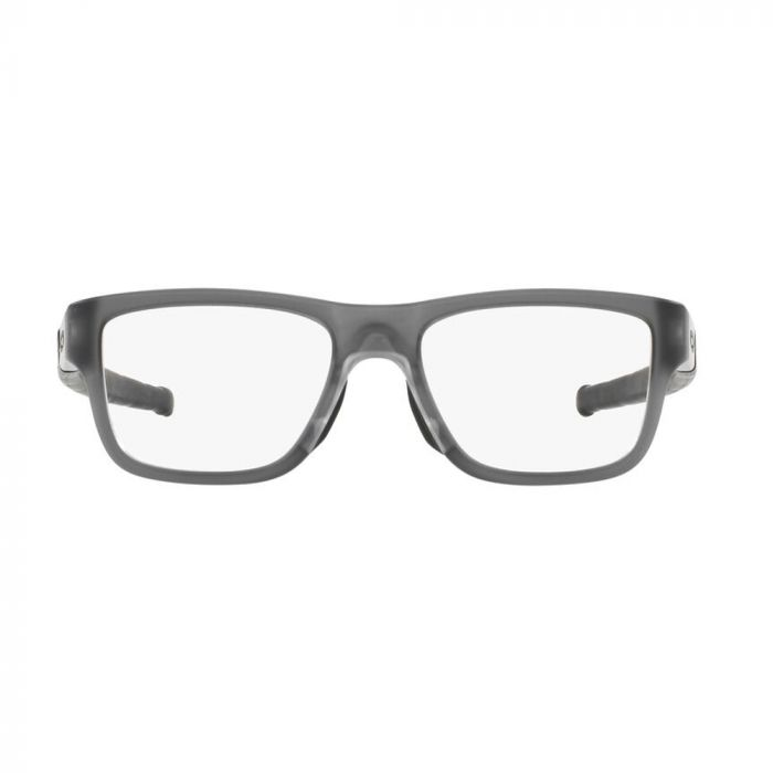 Oakley Men's Eyeglasses Rectangle Acetate - Satin Grey Smoke