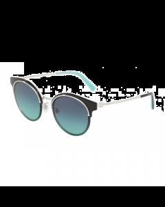 Tiffany Women's Sunglasses Round - Silver/Gradient Blue