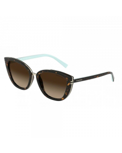 Tiffany Women's Sunglasses Cat Eye - Havana/Brown Gradient