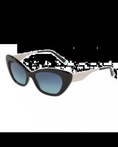 Tiffany Women's Sunglasses Cat Eyes - Black/Azure Gradient Blue