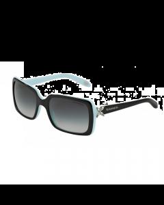 Tiffany Women's Sunglasses Rectangle - Black/Azure Gradient