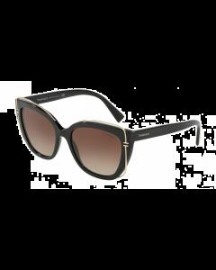 Tiffany Women's Sunglasses Cat Eye - Black/Borwn Gradient