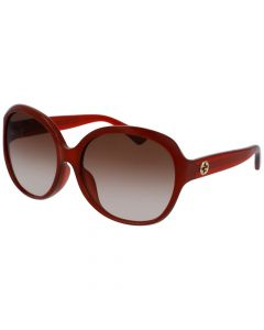 Gucci Women's Sunglasses- Red/Brown Lens