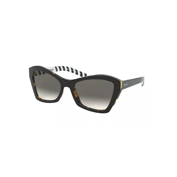 Prada Women's Sunglasses Butterfly - Top Black Medium Tortoise