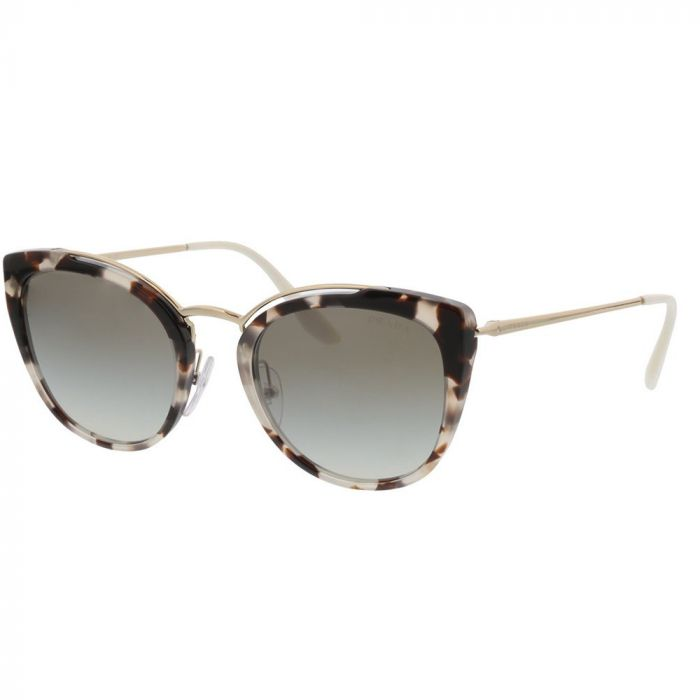Prada Women's Sunglasses- Spotted Opal Brown Pale/Gradient Grey