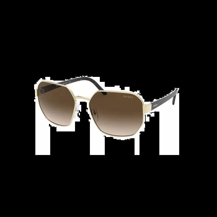 Prada Women's Sunglasses Square - Pale Gold/Brown
