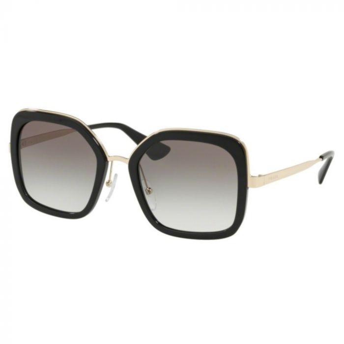 Prada Women's Sunglasses- Black-Gold / Grey Gradient