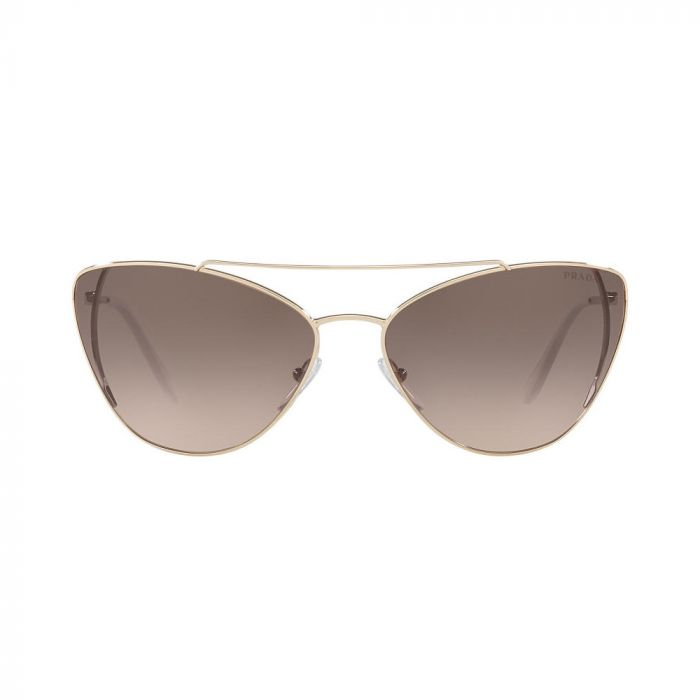 Prada Women's Sunglasses- Pale Gold/Light Brown Gradient